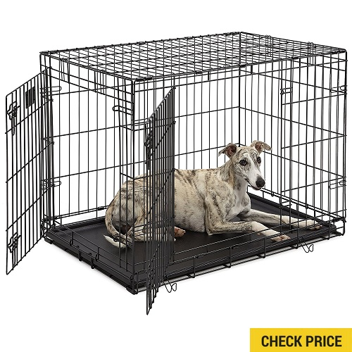 MidWest Life Stages Heavy-Duty Folding Metal Dog Crates