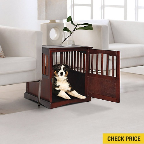 Cedar Groove Wooden Pet Crate Table